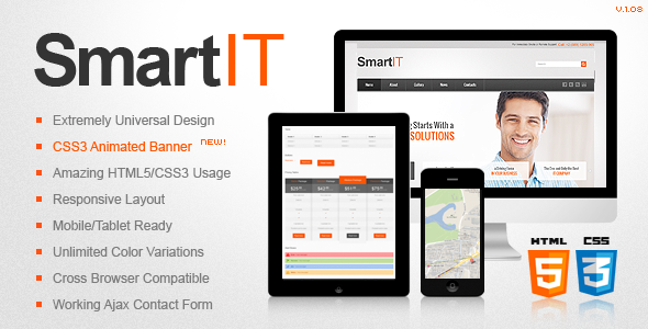 SmartIT Responsive HTML5/CSS3 Template - Business Corporate
