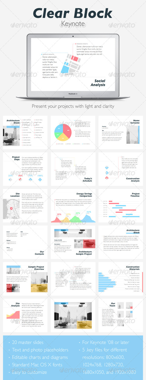 GraphicRiver Clear Block Keynote Template 5213467
