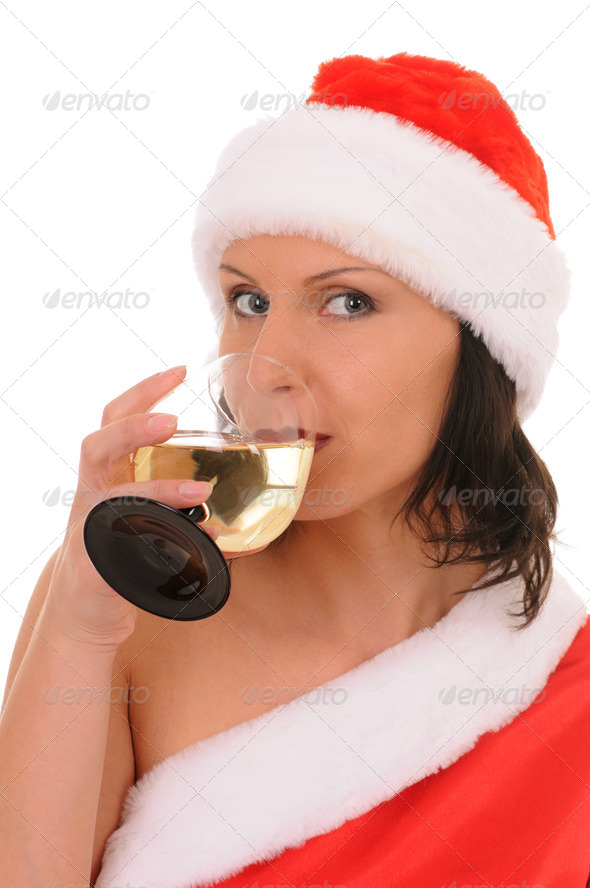 woman  santa - Stock Photo - Images