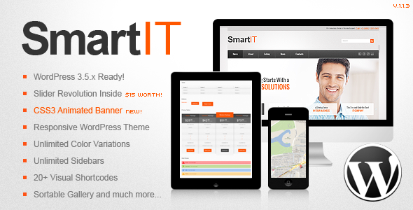 SmartIT Premium Responsive WordPress Theme - Business Corporate