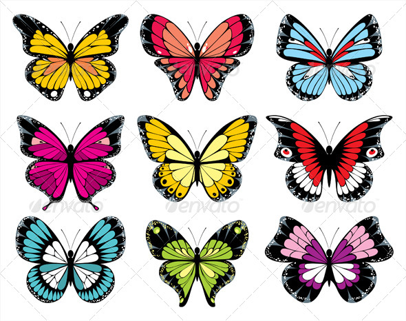 GraphicRiver Butterfly Icons 5214104
