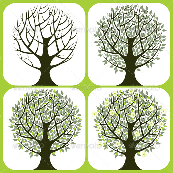 GraphicRiver Tree Icons 5214288