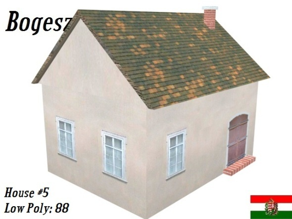 Textured Small Village House (Low Poly) - 3DOcean Item for Sale