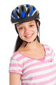 Mixed Race Teenage Girl Wearing a Bicycle Helmet. - PhotoDune Item for Sale