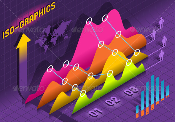GraphicRiver Isometric Infographic Histogram Set Elements 5214343