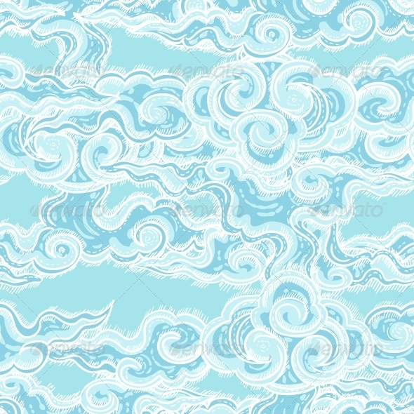 GraphicRiver Seamless Pattern with Waves 5214690