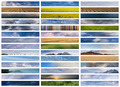 Banners collage: sky, ground and water - PhotoDune Item for Sale
