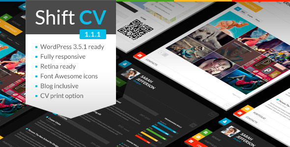 Theme de WordPress para Currículum Online Responsive: ShiftCV