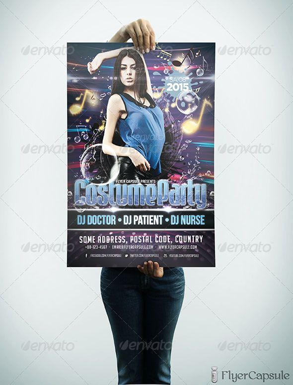 GraphicRiver Costume Party Flyer Template 4915146