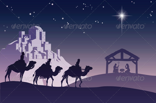GraphicRiver Christian Christmas Nativity Scene 535403