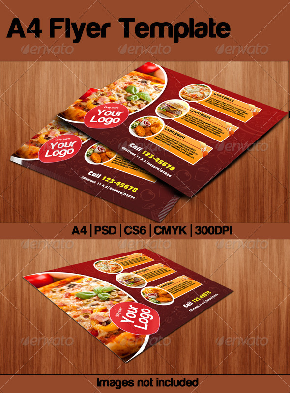 GraphicRiver Fast Food Flyer 5214936