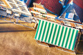 Top View of a Cafe Sunshade and Street - PhotoDune Item for Sale
