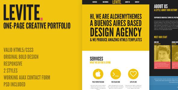 Levite - Creative Bold One-Page Portfolio
