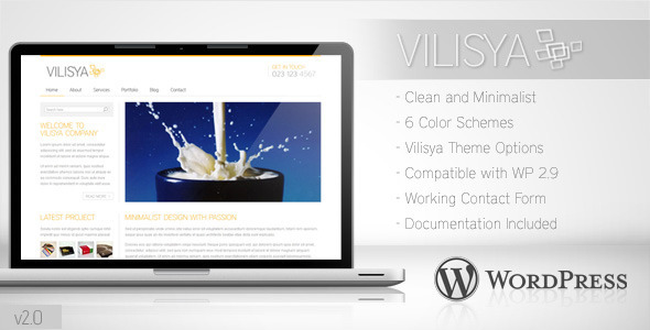 Vilisya Minimalist Business Wordpress Theme 3