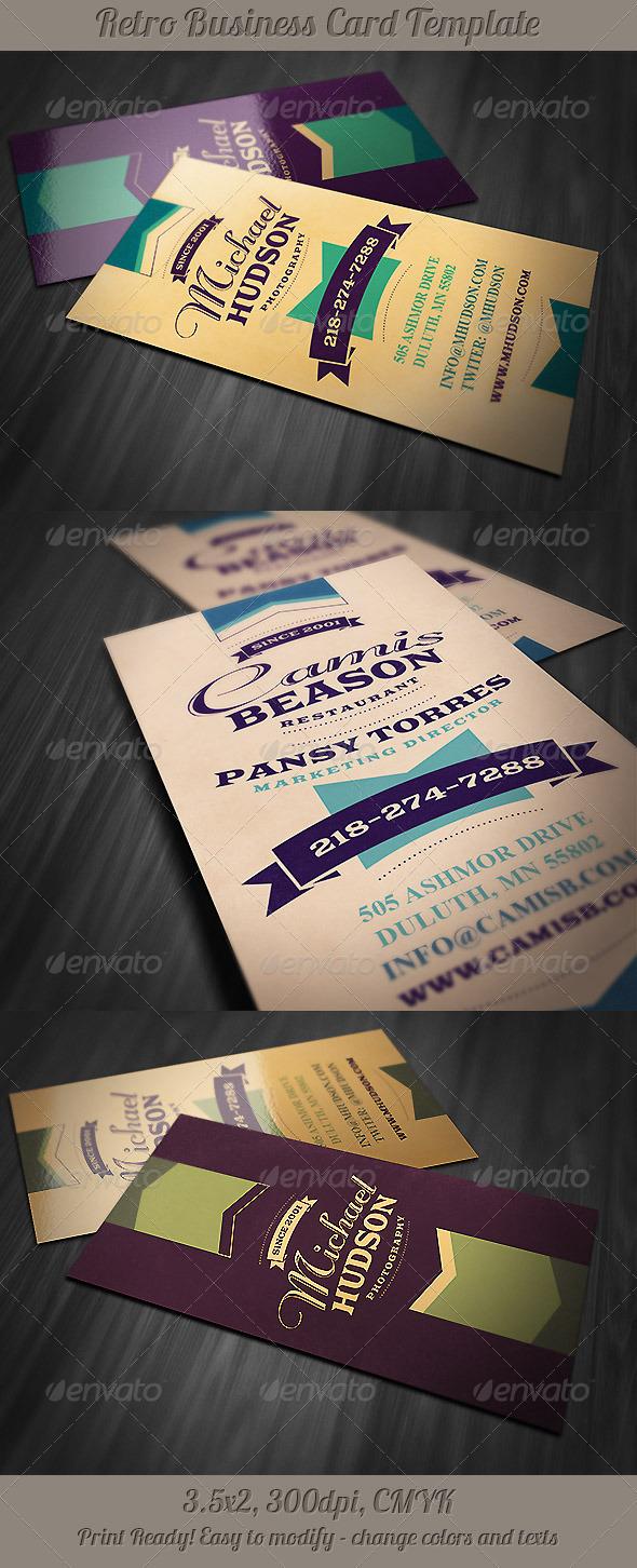 GraphicRiver Retro Business Card 3 5215751