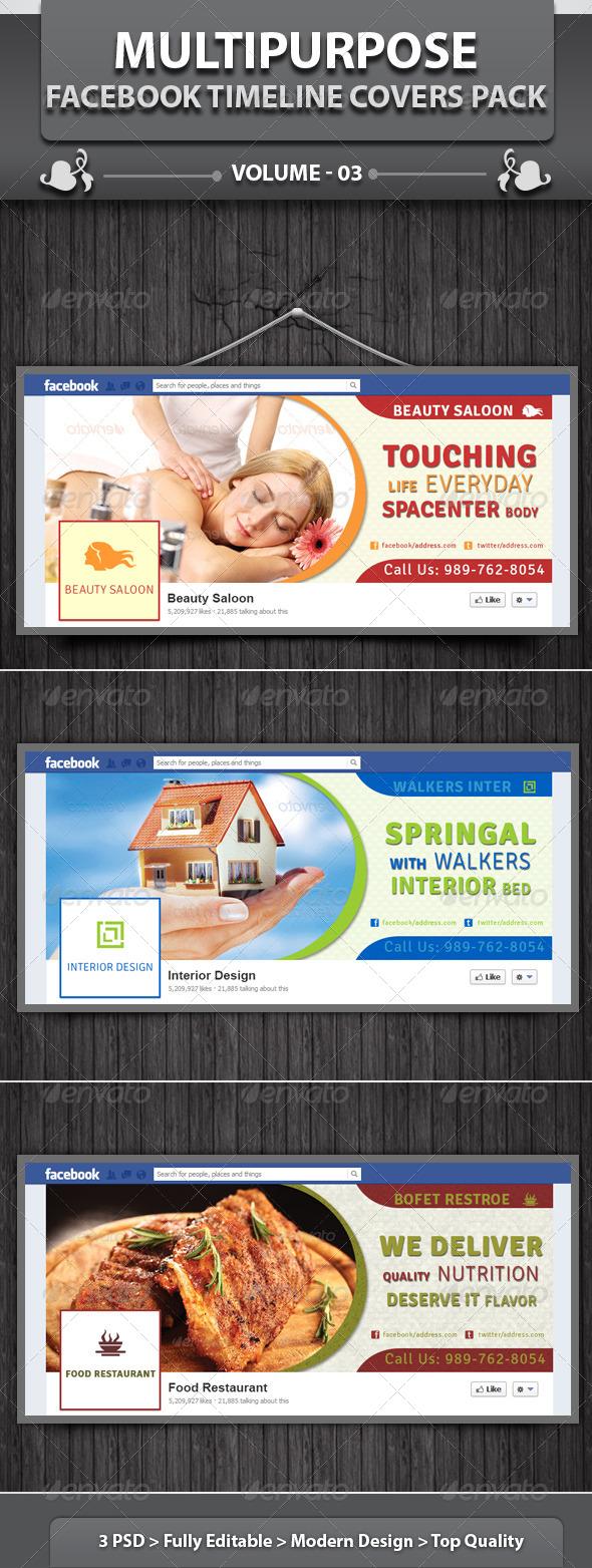 GraphicRiver Multipurpose Facebook Timeline Covers Pack v3 5215852