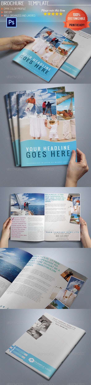 GraphicRiver Bi-Fold A5 Travel Brochure 5144375