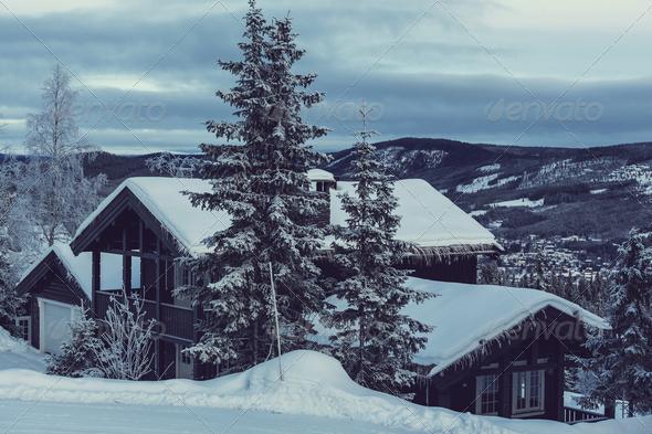 Winter resort - Stock Photo - Images