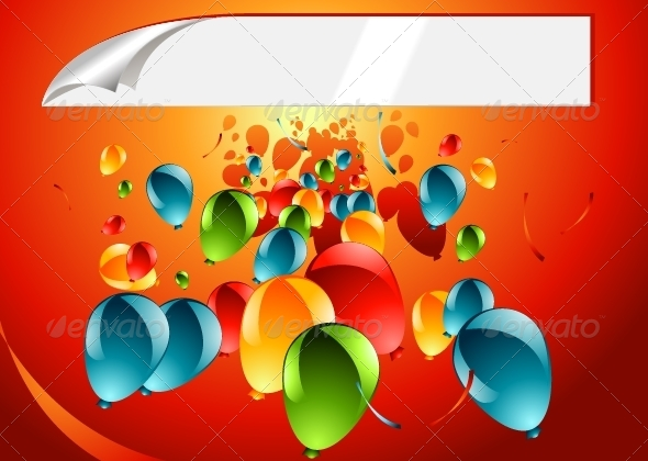 GraphicRiver Background with Balloons 5216452