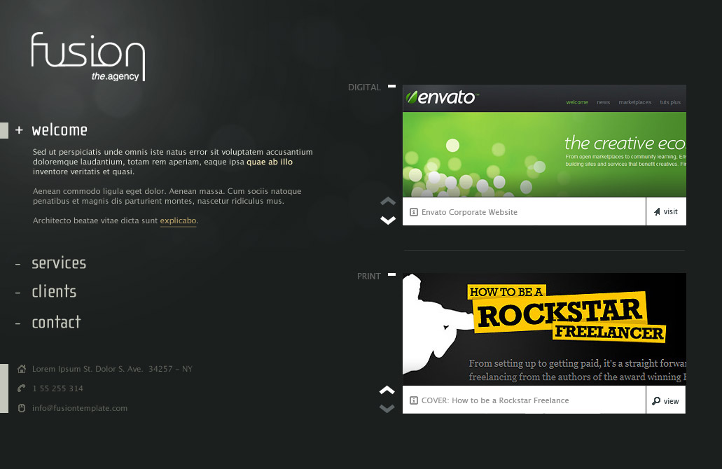Fusion: Incredible Site Template