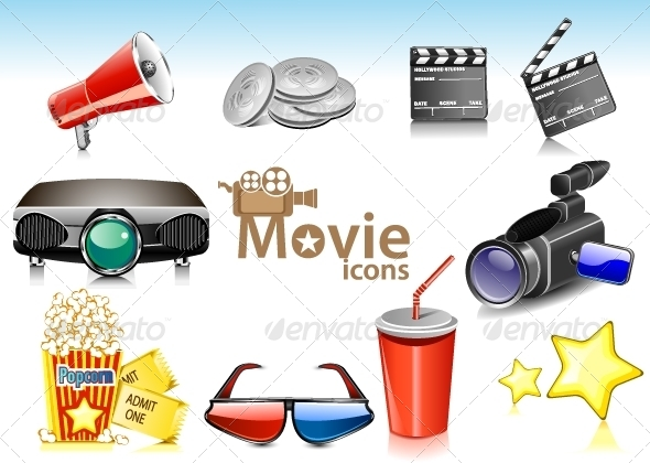 GraphicRiver Movie Icons 5216494
