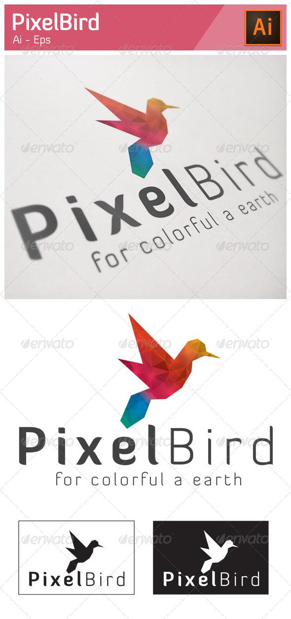 GraphicRiver Pixel Bird Logo 5216735