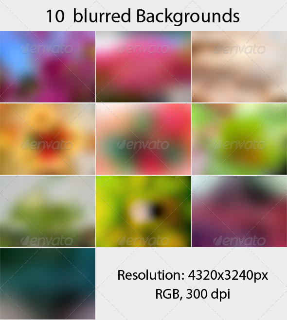 GraphicRiver 10 Blurred Backgrounds vol 2 5216771