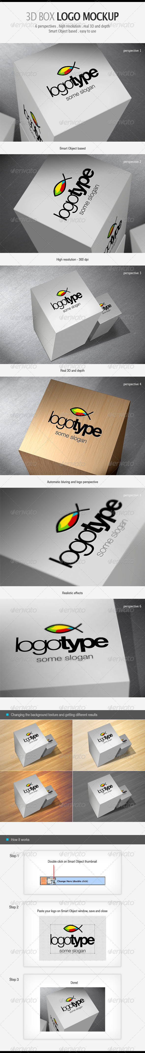 GraphicRiver 3D Box Logo Mockup 5212099