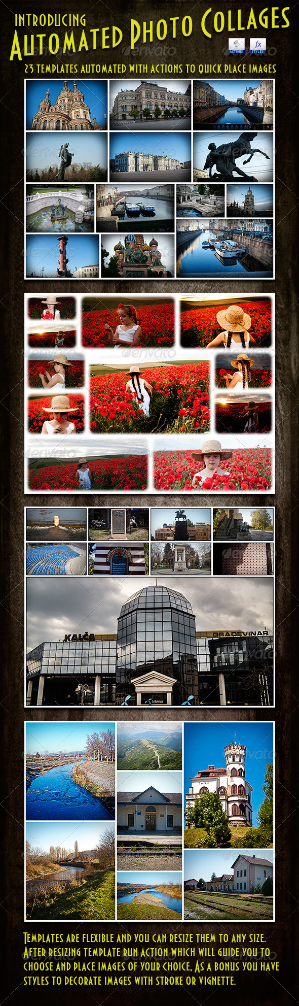 GraphicRiver Photo Collages Automated Templates 5216830
