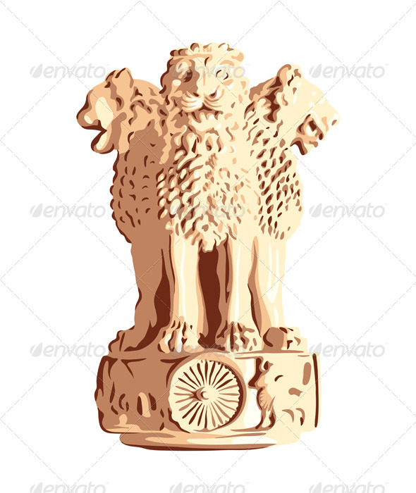 Indian emblem of Ashoka Lions