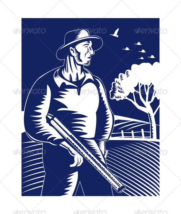 GraphicRiver Farmer with Shotgun 5216988