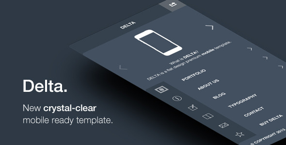 ThemeForest Delta Flat Designed Mobile Template 5216991