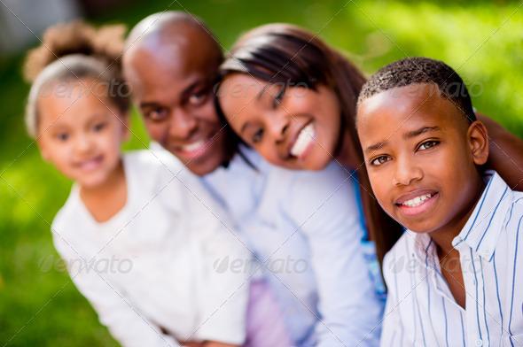 Happy family portrait - Stock Photo - Images