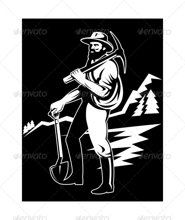 GraphicRiver Gold Prospector Miner Retro 5217025