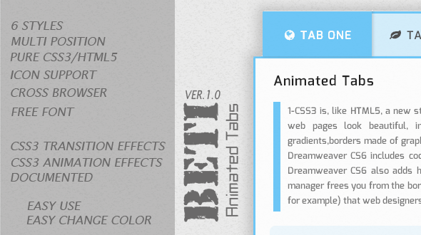 CodeCanyon BETI Animated Tabs 5217039