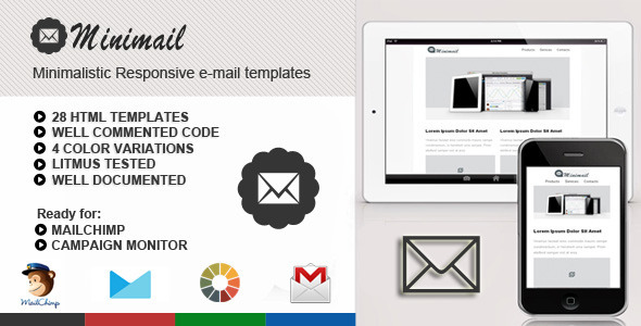 ThemeForest miniMail Responsive Email Template 5217182