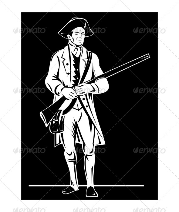 GraphicRiver American Patriot Musket Rifle 5217216