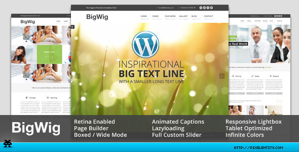 ThemeForest BigWig Modern Corporate Retina WordPress Theme 5217458