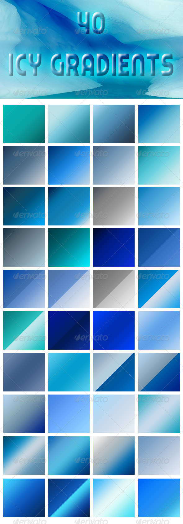 GraphicRiver 40 Icy Gradients 5217550