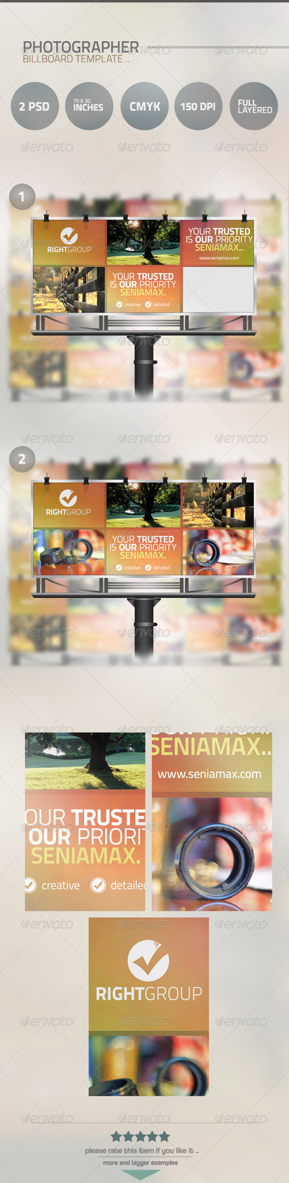 GraphicRiver Photographer Billboard Template 5124110