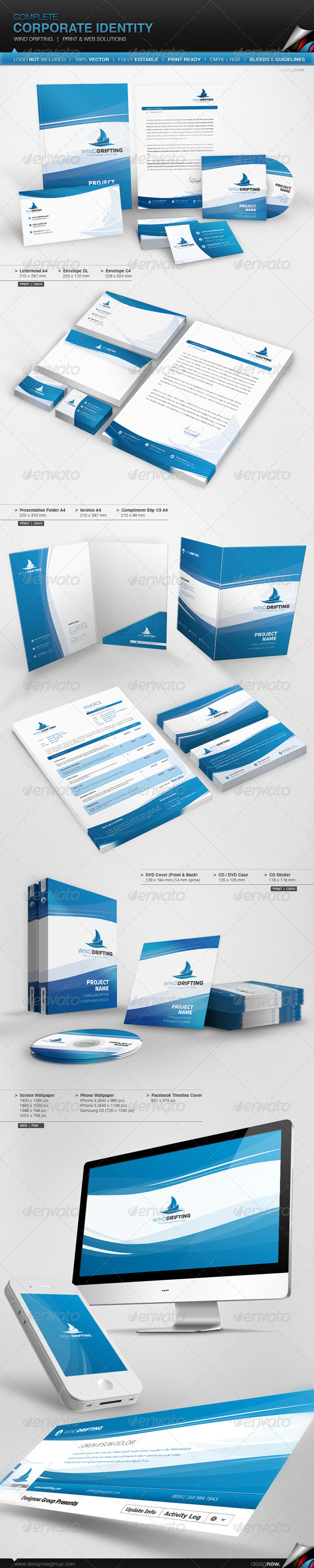 GraphicRiver Corporate Identity Wind Drifting 5217688