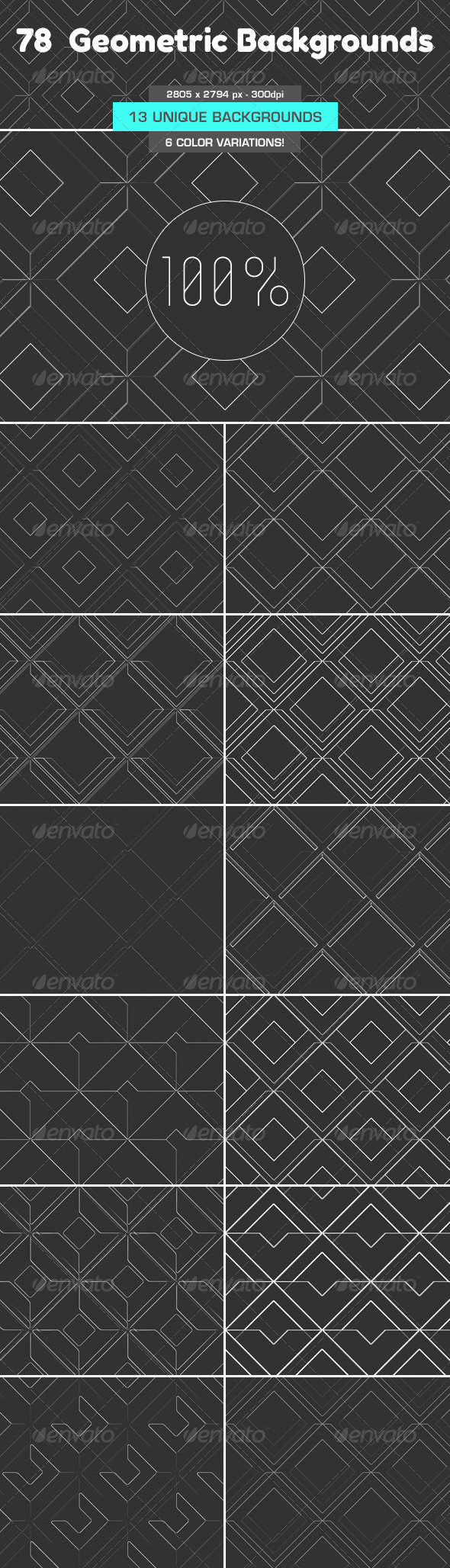 GraphicRiver 78 Geometric Backgrounds 5214142
