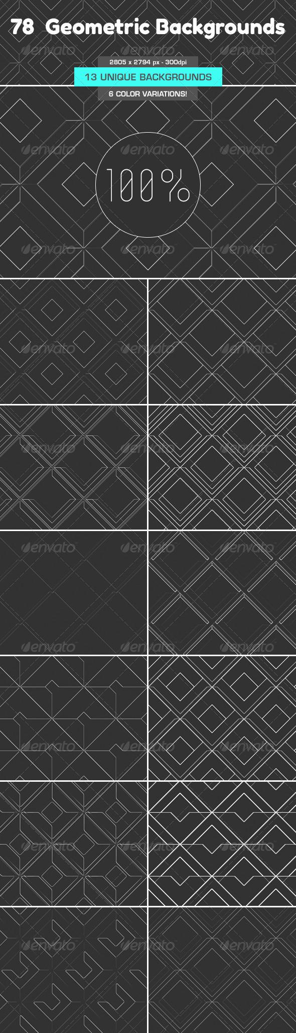 78 Geometric Backgrounds
