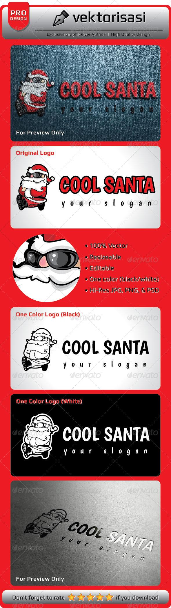 GraphicRiver Cool Santa Logo 5208478