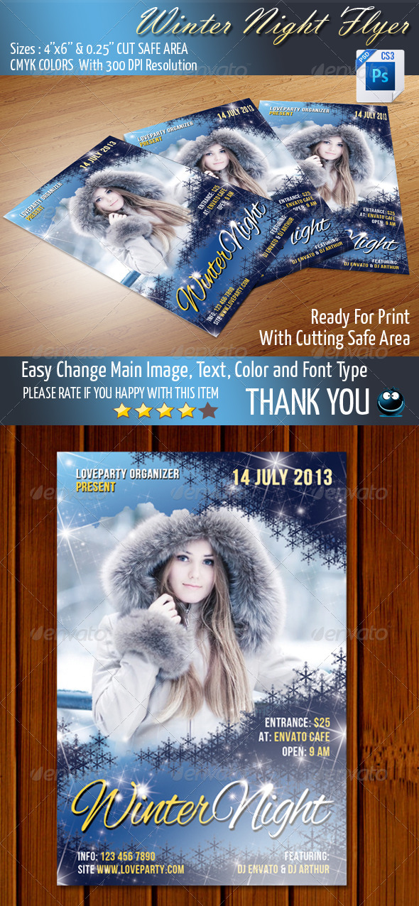 GraphicRiver Winter Night Party 5160066