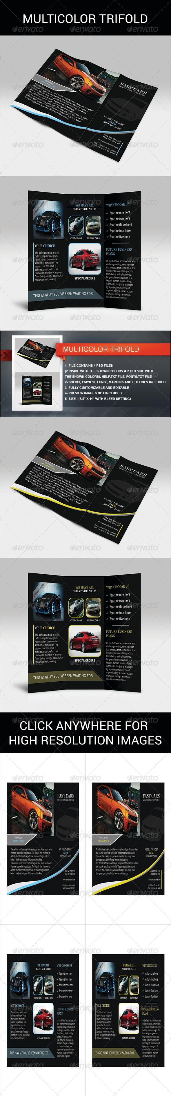 GraphicRiver Multicolor Trifold 4267409