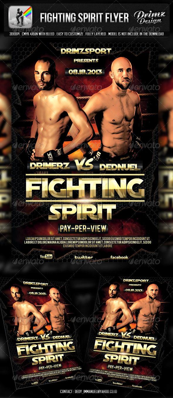 GraphicRiver Fighting Spirit Flyer 5217845