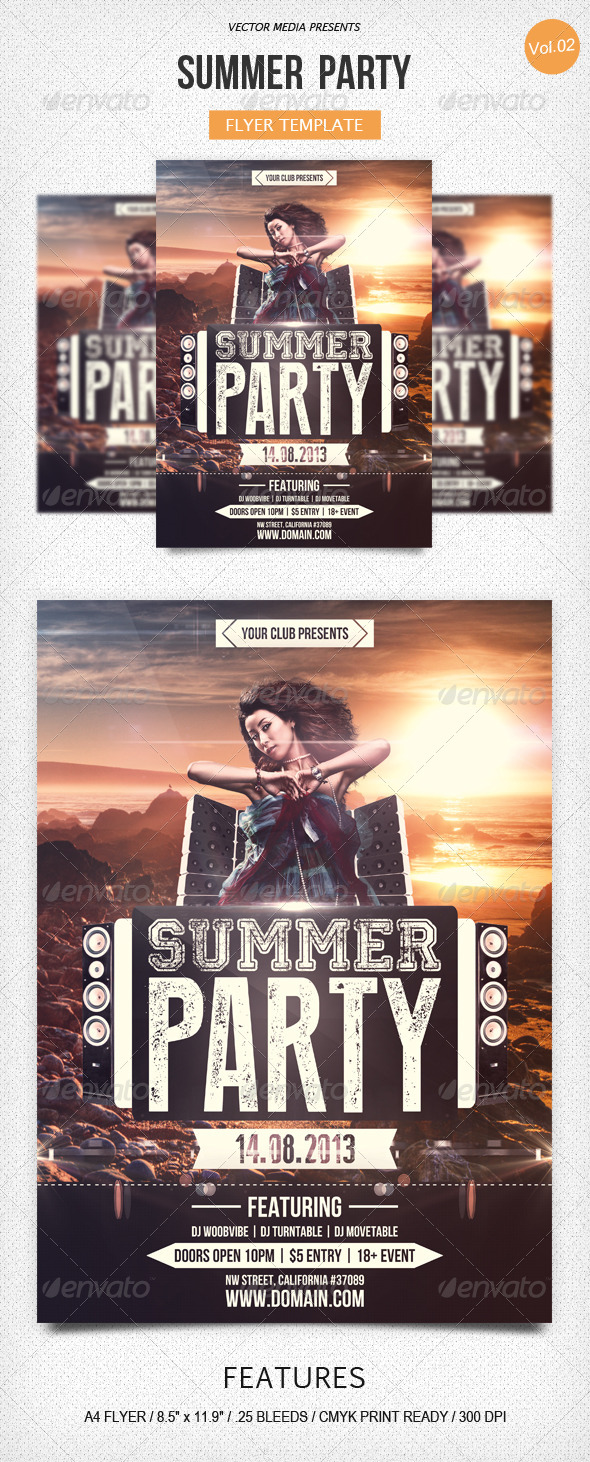 GraphicRiver Summer Party Flyer [Vol.2] 5218344