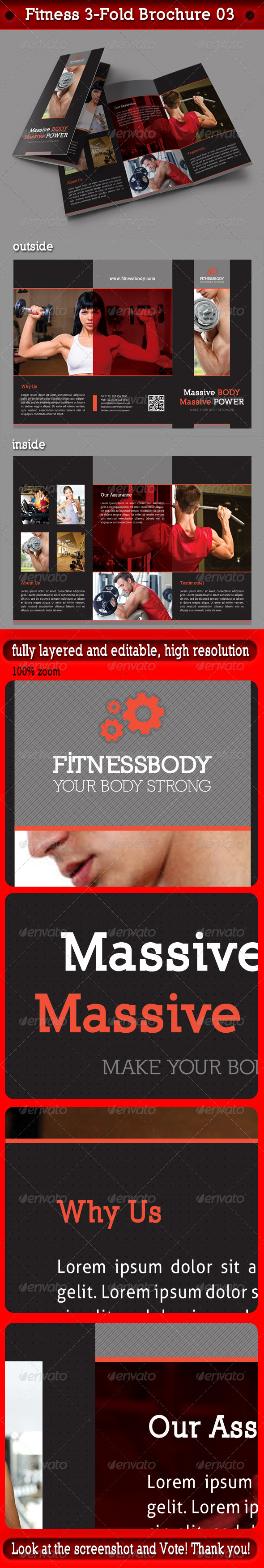 Fitness 3-Fold Brochure 03 - Informational Brochures