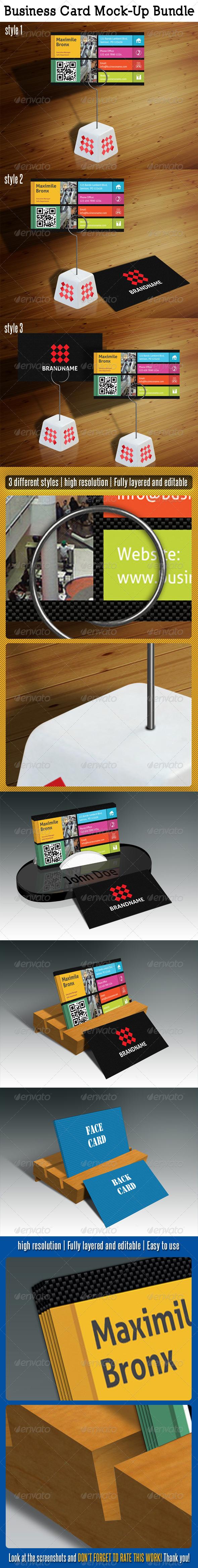 GraphicRiver Business Card Mock-Up Bundle 5218530